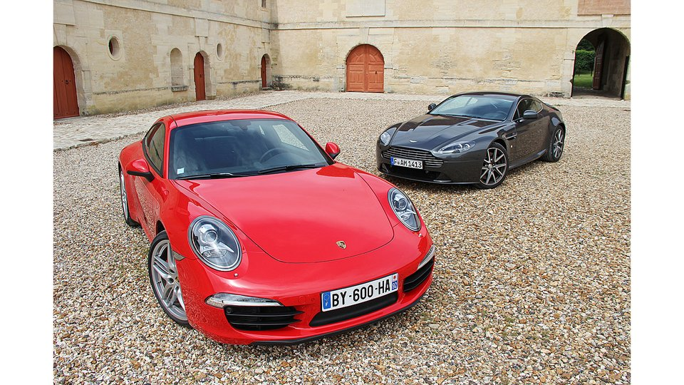 Porsche 911 Vs Aston Martin V8 Vantage Exotic Car List