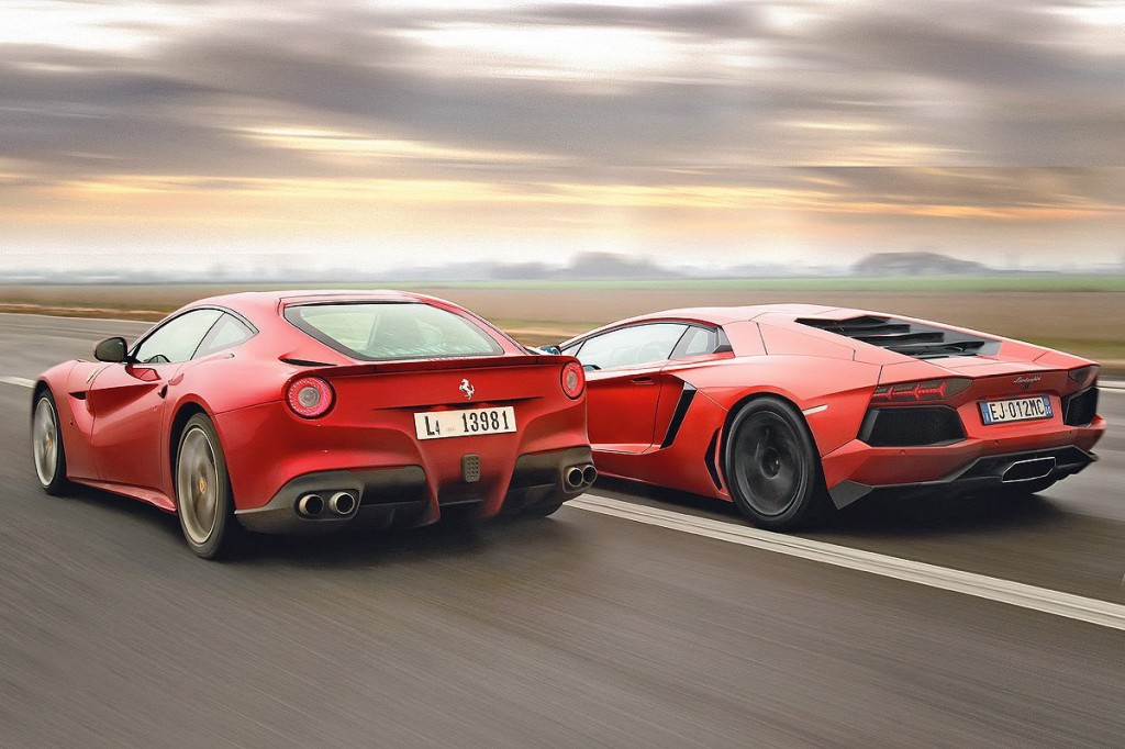 Lamborghini Aventador vs Ferrari F12 - Exotic Car List