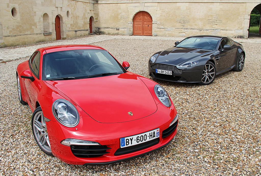 Porsche 911 vs Aston Martin V8 Vantage - Exotic Car List