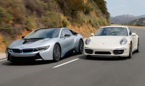 the BMW i8 vs the Porsche 911