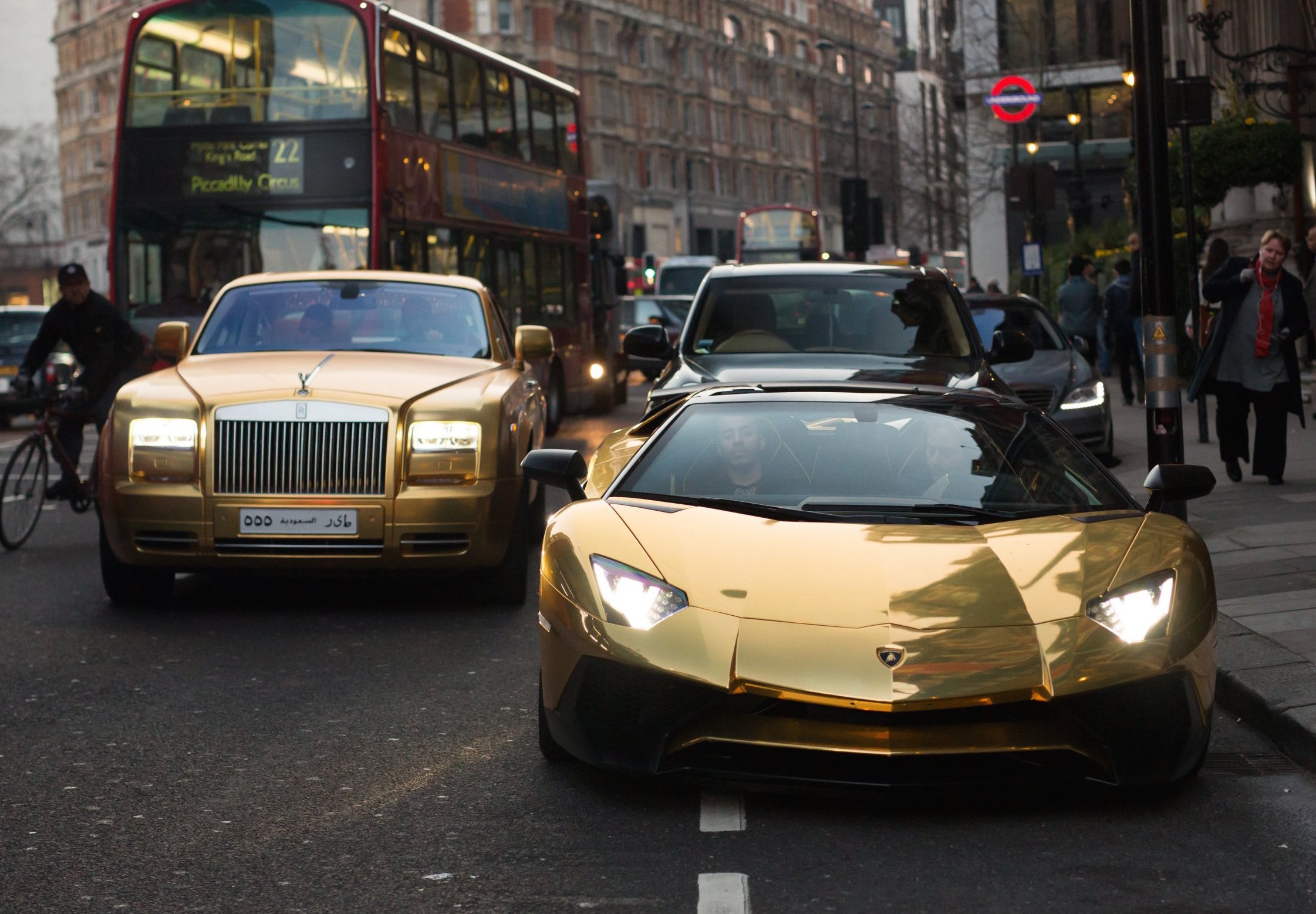 Gold Plated High Performance Supercars Spotted In London