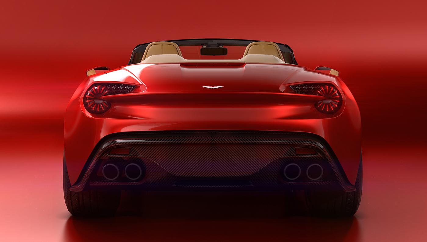 Aston Martin Vanquish Zagato Volante Rear