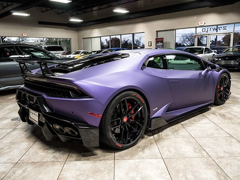 Matte Purple Lamborghini Huracan Novara Coupe Exotic Car