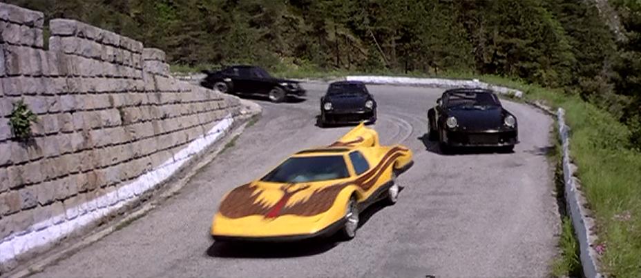 Condorman Car Chase movie scene