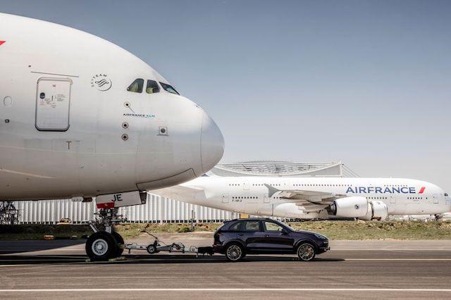 Porsche Tows Airbus