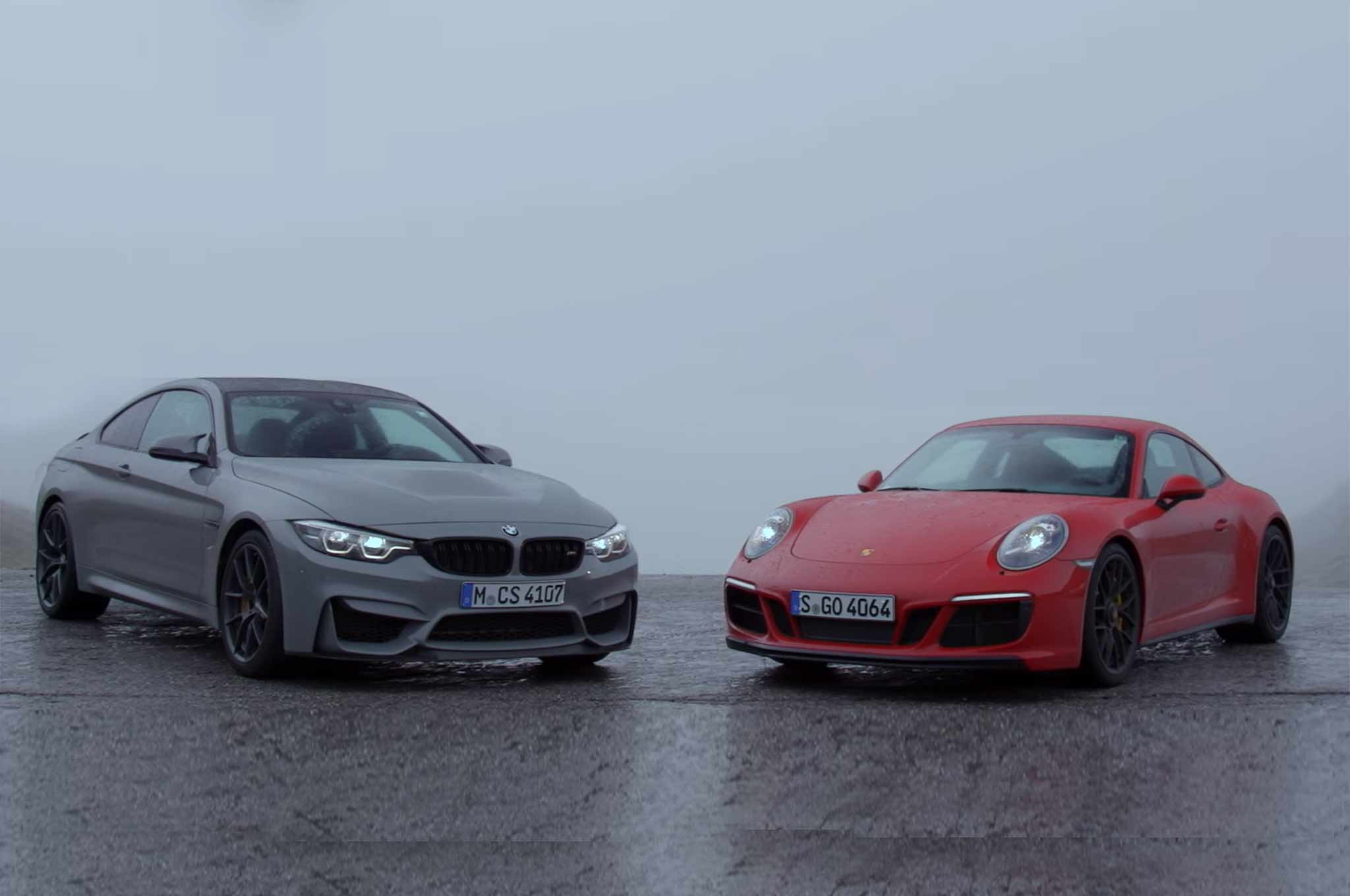 2018 BMW M4 CS vs. 2018 Porsche 911 GTS