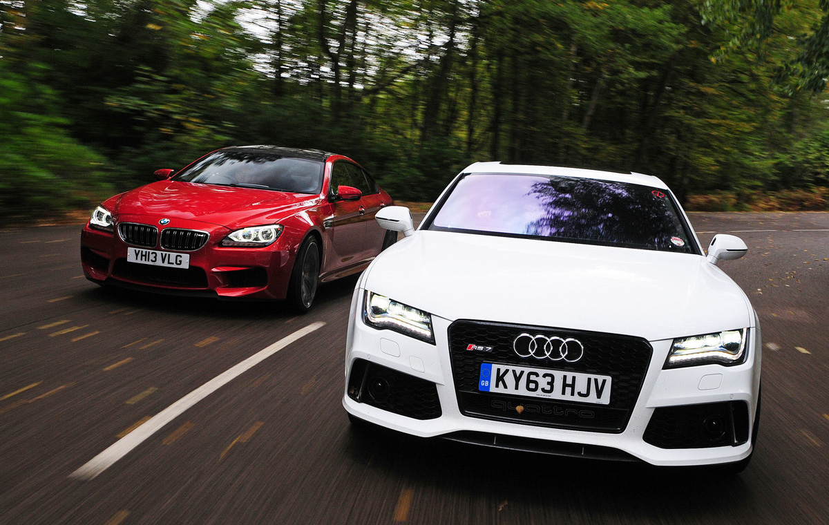 Audi RS7 Sportback vs BMW M6 Gran Coupe