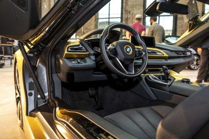 Gold BMW i8 Interior