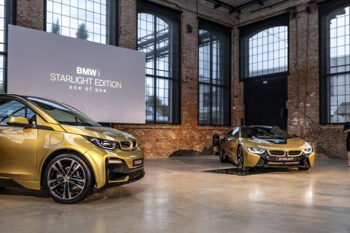 24K Gold BMW i3 and BMW i8
