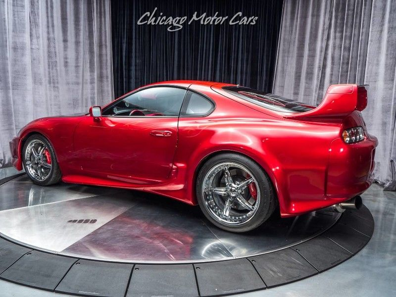 Candy Apple Red Toyota Supra