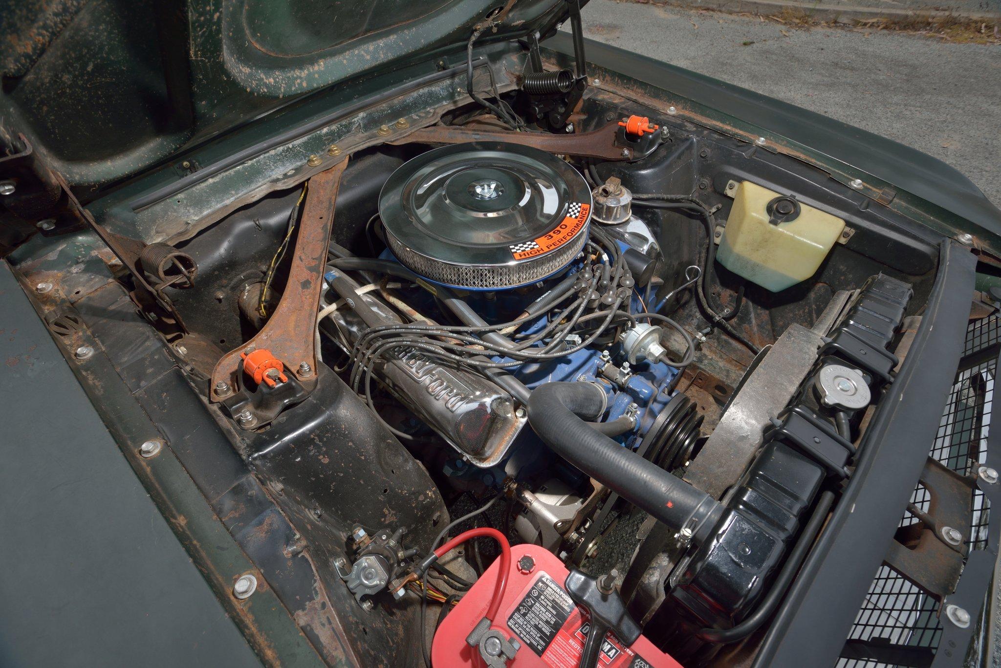 1968 Bullitt Mustang Engine