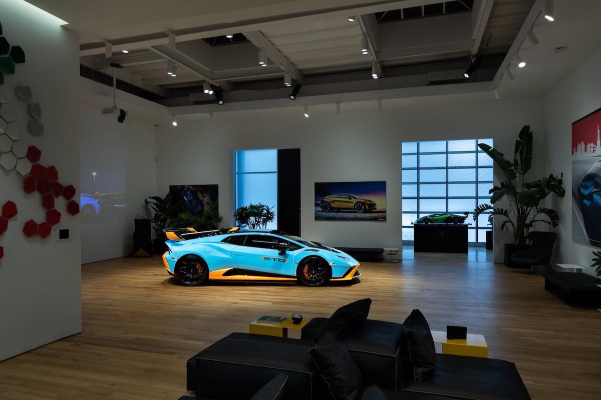 Lamborghini Luxe Lounge in NYC