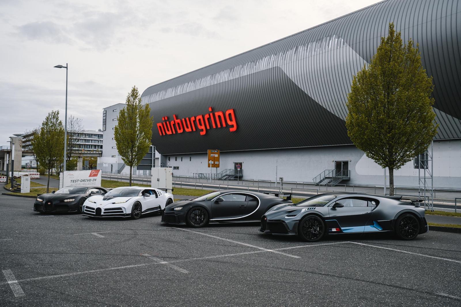 Bugatti Nurburgring Circuit Lineup
